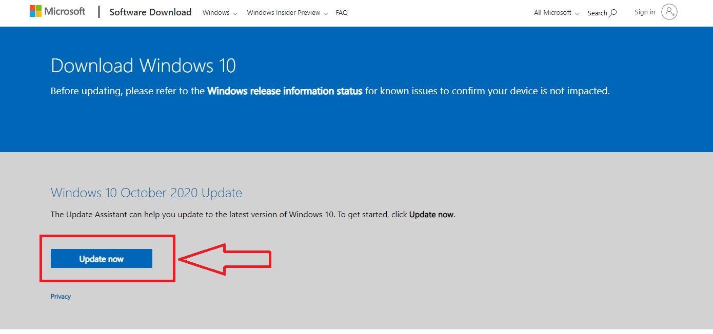 Windows 10 - update now