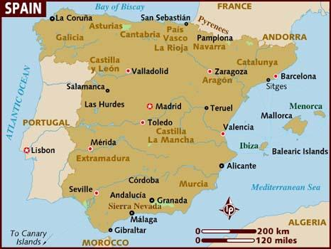 Image result for spain map