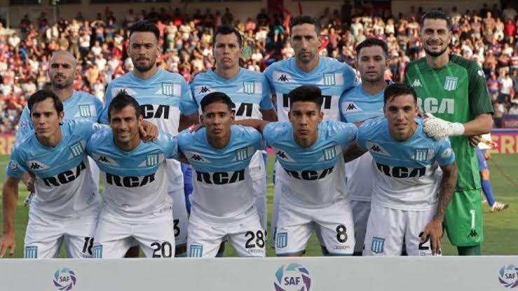 Time do Racing campeao argentino de 2019