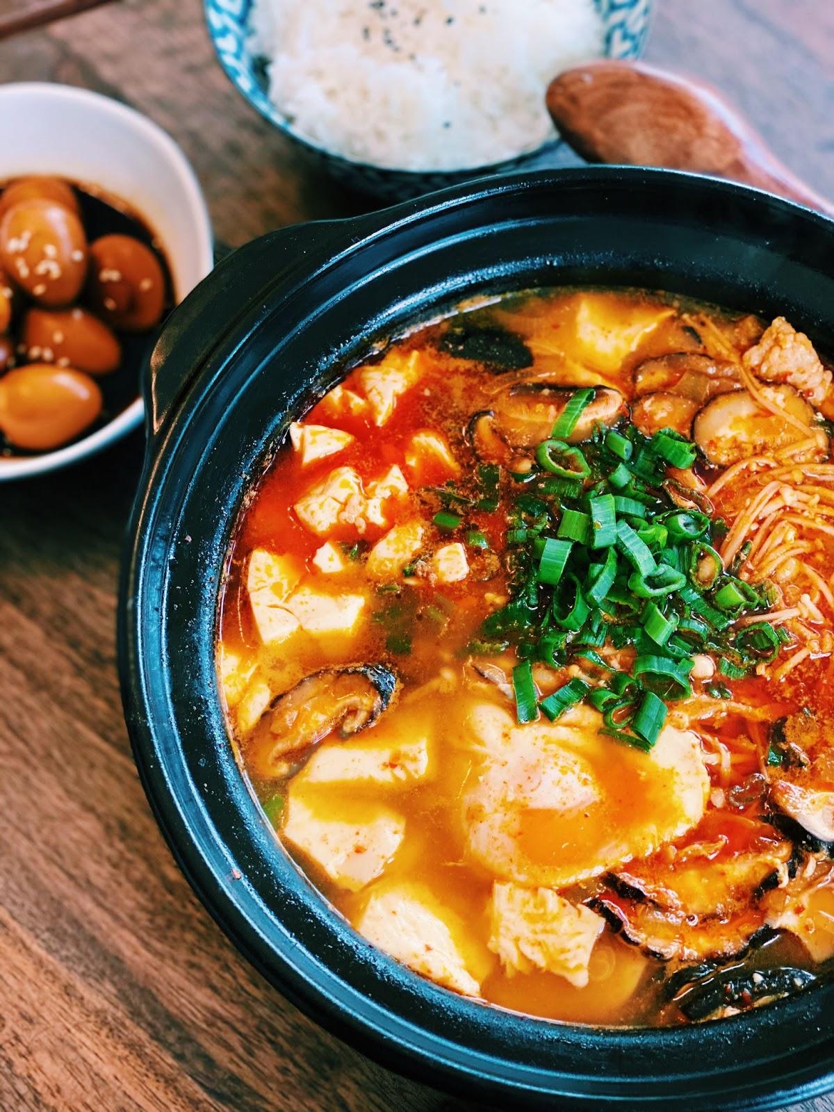 Korean Spicy Soft Tofu Stew