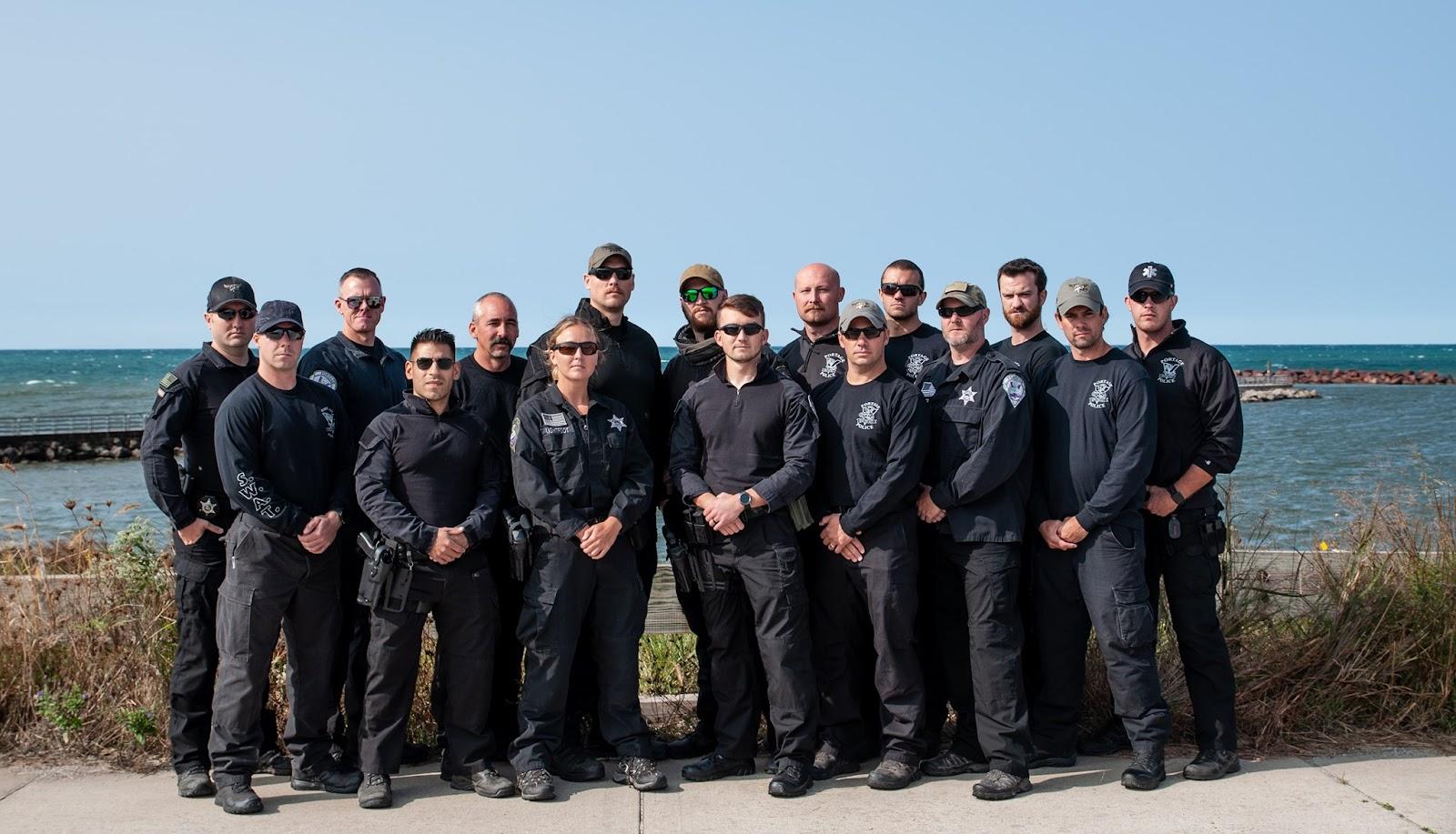Portage Police Department SWAT team