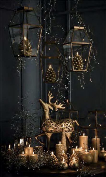Fekete arany karácsonyi dekoráció