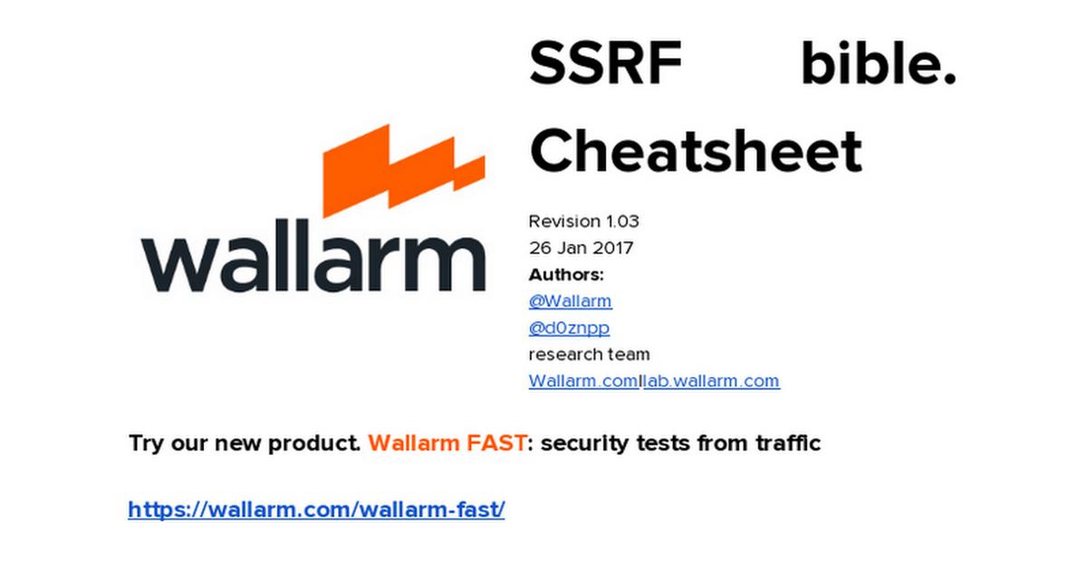 SSRF bible  Cheatsheet - Google Docs