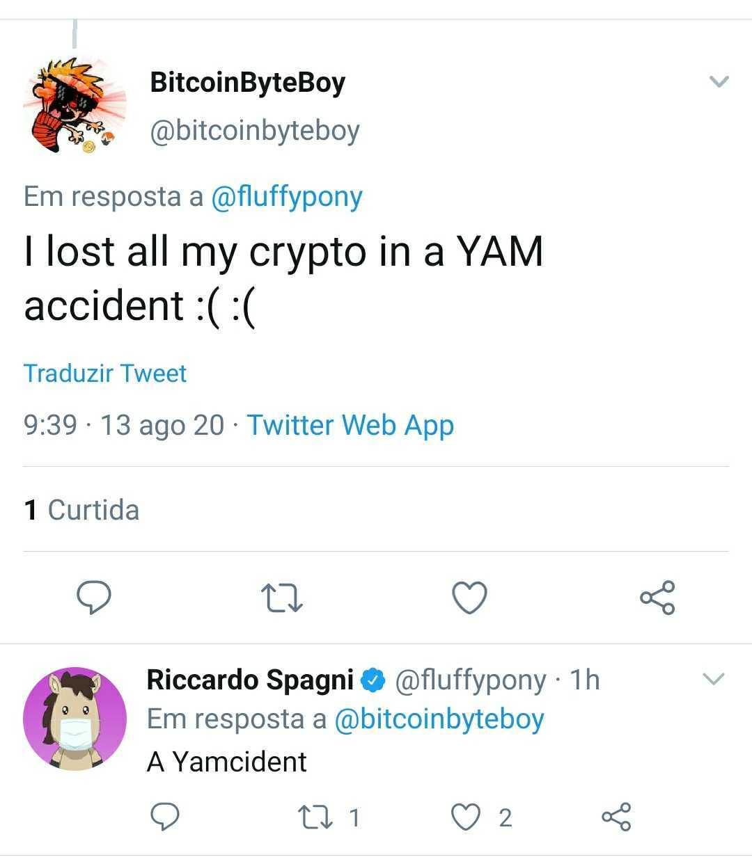 print do usuário que perdeu YAM