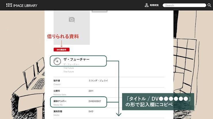 記入例) ザ・フューチャー/DV6000907