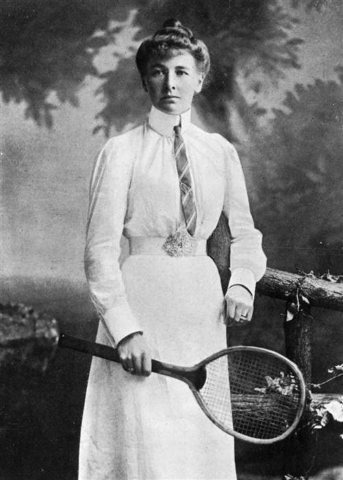 Charlotte Cooper en los años 1900.