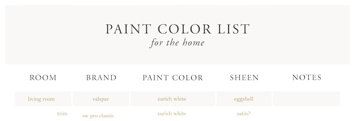 Cream Color Paint is a warm neutral wall color that fits just about every home and every room. The best cream paint colors for walls - these warm white paint colors are all around easy to use. #creampaint #creampaintcolors #creamcolorpaint