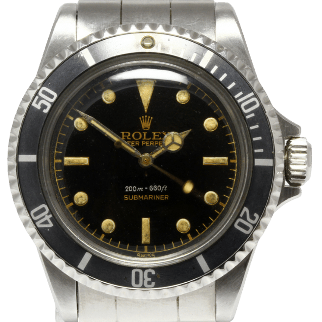 Photo of Rolex Submariner Ref. 5512 with Square Crown Guards