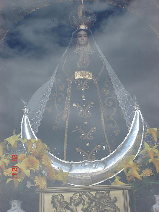 La figura de la Virgen de la Puerta se encuentra en la Catedral de Otuzco