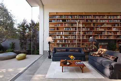 Phòng đọc sách tạo không gian mở