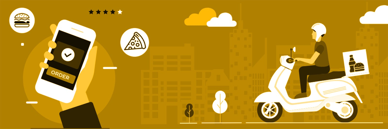 On-Demand Delivery Application like HungerStation is in high demand - Contact YelloStack - Mobile Application Development Company in Saudi Arabia