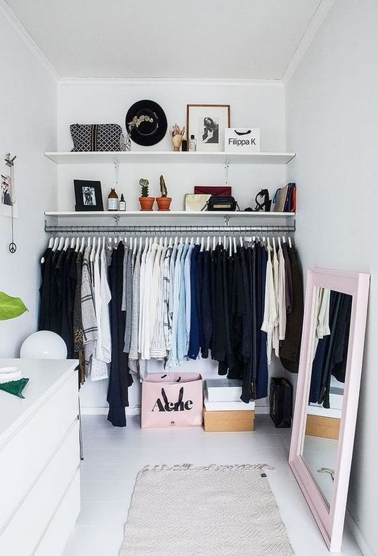 Or you can arrange the clothes by color