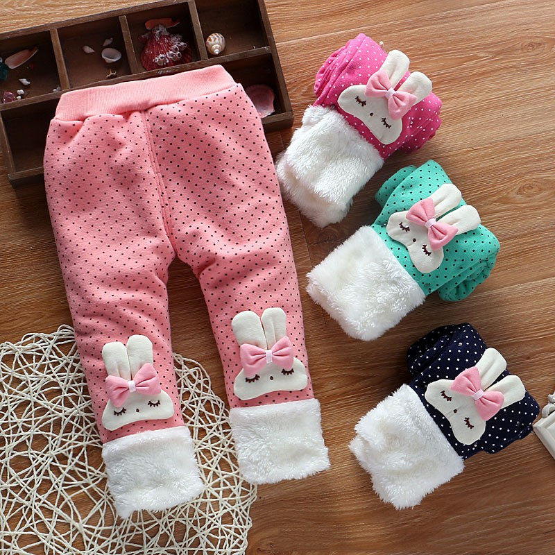 Ciepłe spodnie dla dziewczynki