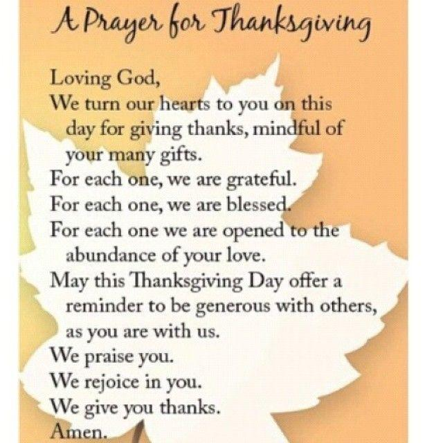 Thanksgiving Prayer | Thanksgiving quotes inspirational, Thanksgiving quotes, Thanksgiving prayer