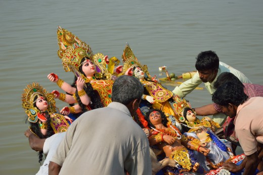 Immersion of Maa Durga's idol