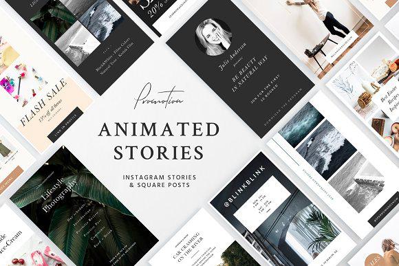 Sparrow & Snow Animated Instagram Story Templates