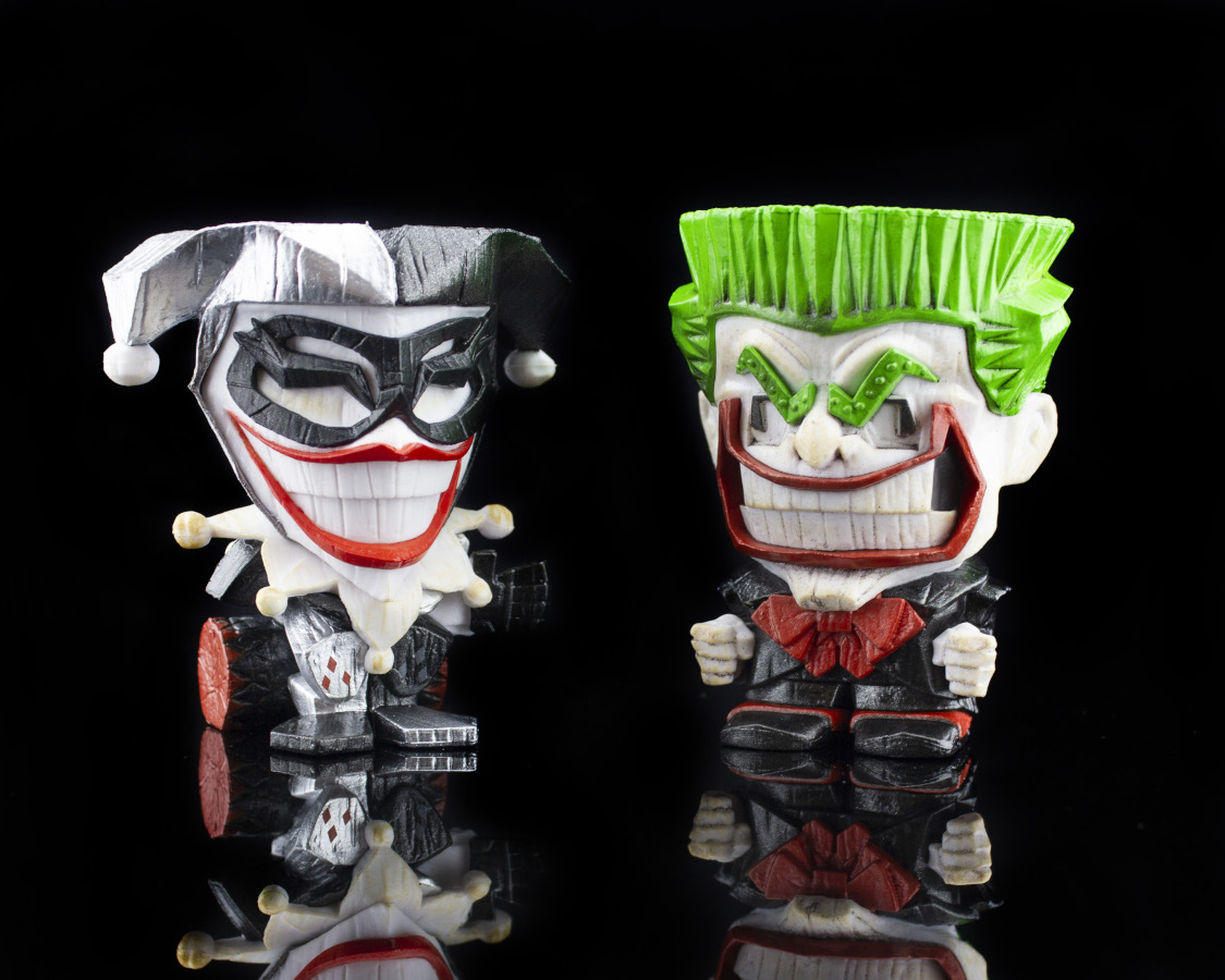 Black, White, and Red All Over Harley Quinn and The Joker (DC Teekeez)