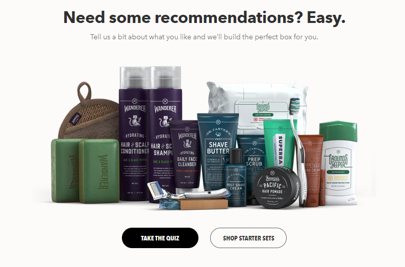 Dollar shave club personalizations recommendations