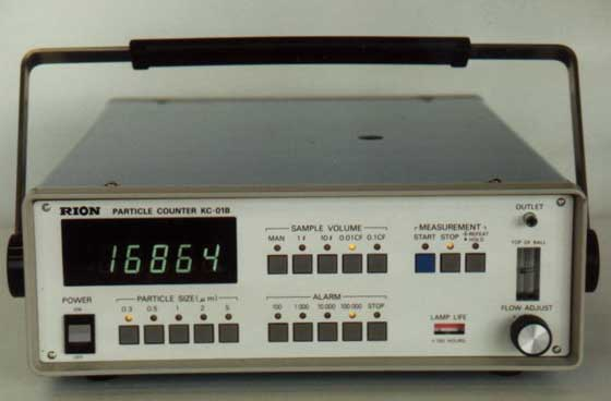 Rion optical particle counter.