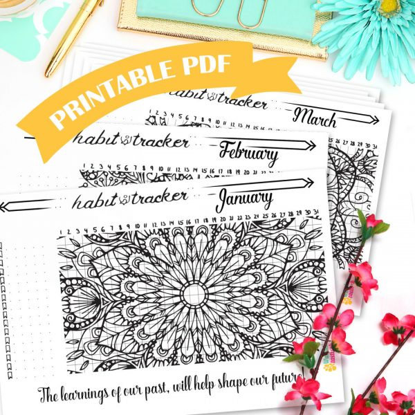 In need of bullet journal ideas? I'm obsessed with bullet journal inspiration & creating bullet journal layouts every day. I know that you don't have time for that so I've found some amazing bullet journal printables to help you fill your Bujo in no time at all. Whether you want a printable finance tracker, a bullet journal habit tracker, a printable health & fitness planner or a way to keep track of your reading list, you will find what you need! #bulletjournal #bujo #printables