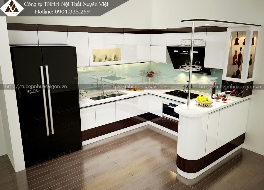 Mẫu tủ bếp đẹp bằng nhựa hình 12