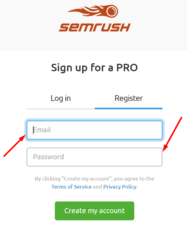 SEMrush Free Trial: Use SEMrush FREE 7-Days Trial 1