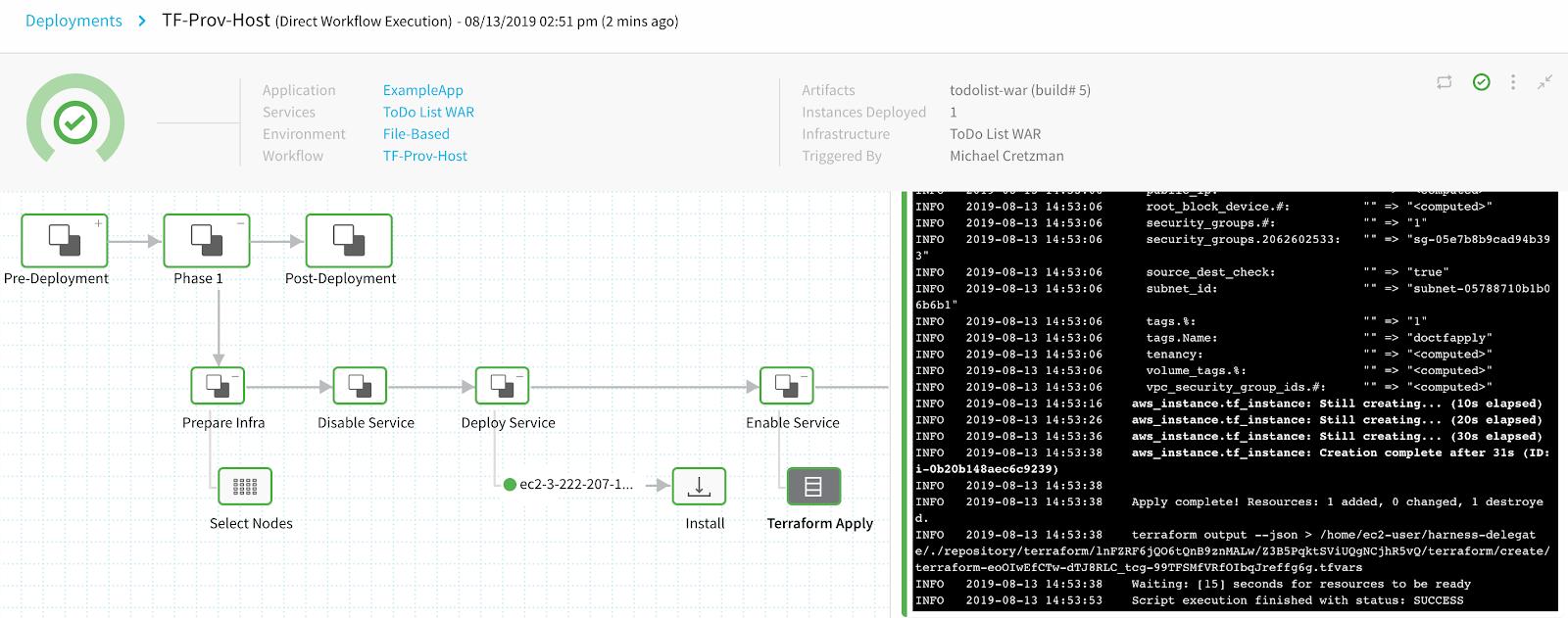 Using the Terraform Apply Command - Harness io Docs