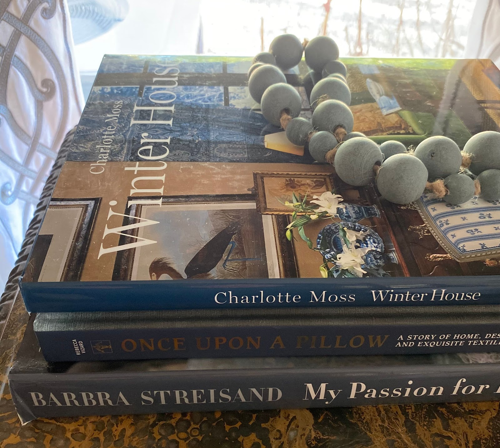 books beads cozy winter home charlotte moss decorating tips