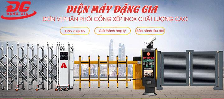 Điện Máy Đặng Gia - Địa chỉ bán cổng xếp inox điện uy tín