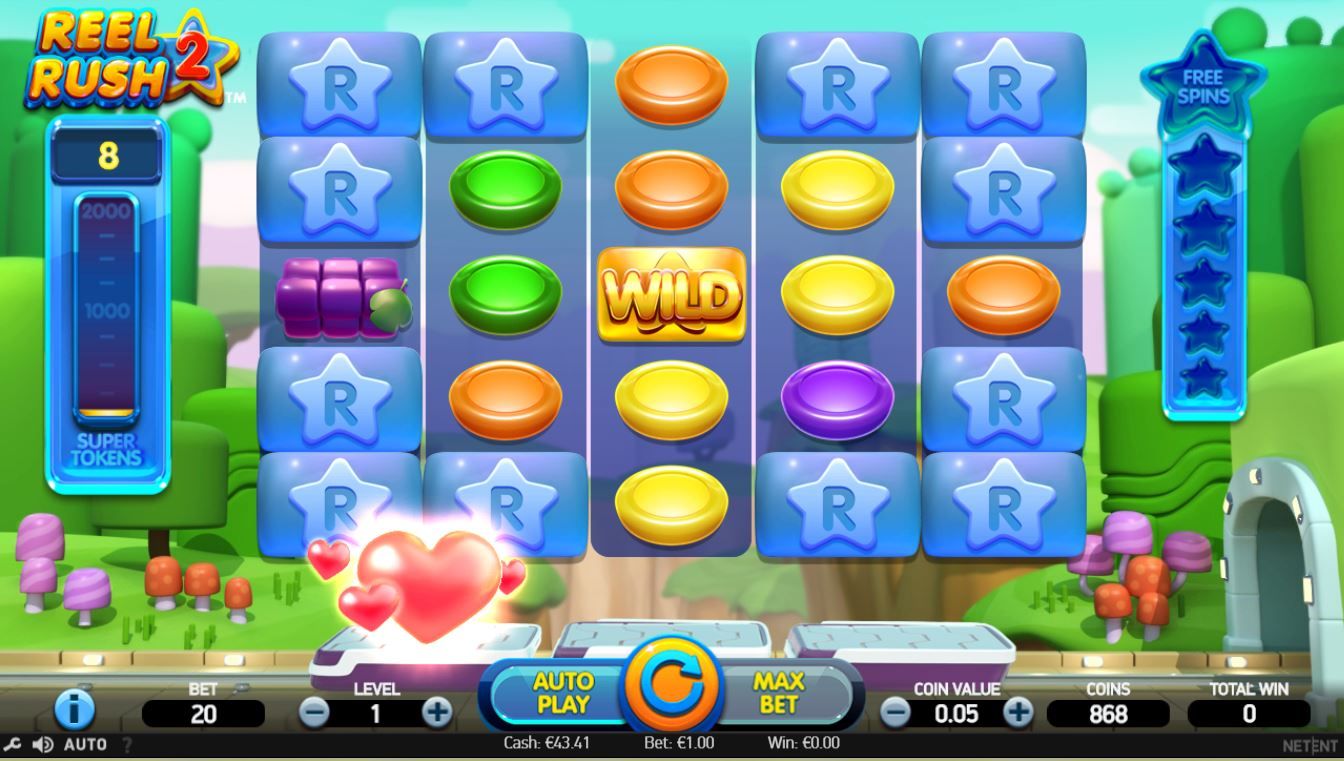 Play Reel Rush 2 by Netent for Real Money at Scatters Casino