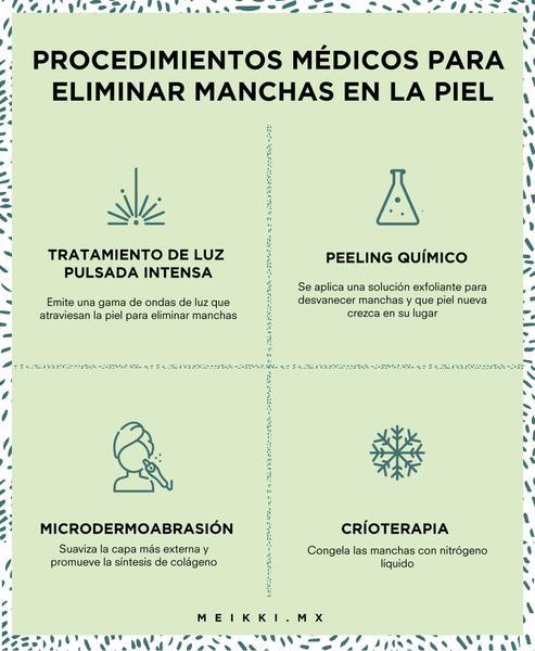 PROCEDIMIENTOS MÉDICOS PARA QUITAR MANCHAS EN LA PIEL