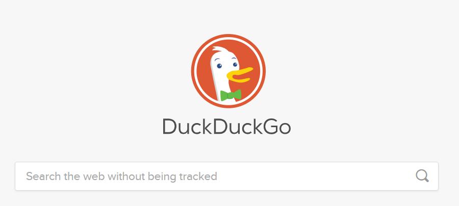 Screenshot of DuckDuckGo Search Engine