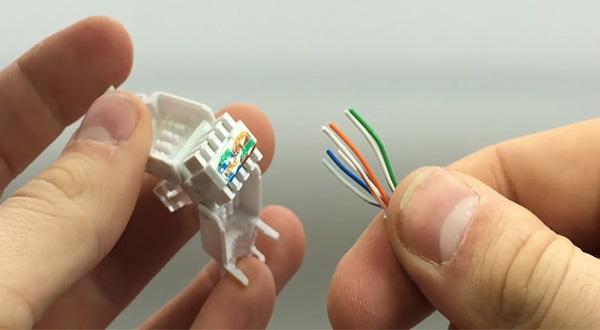 Расположение проводов кабеля