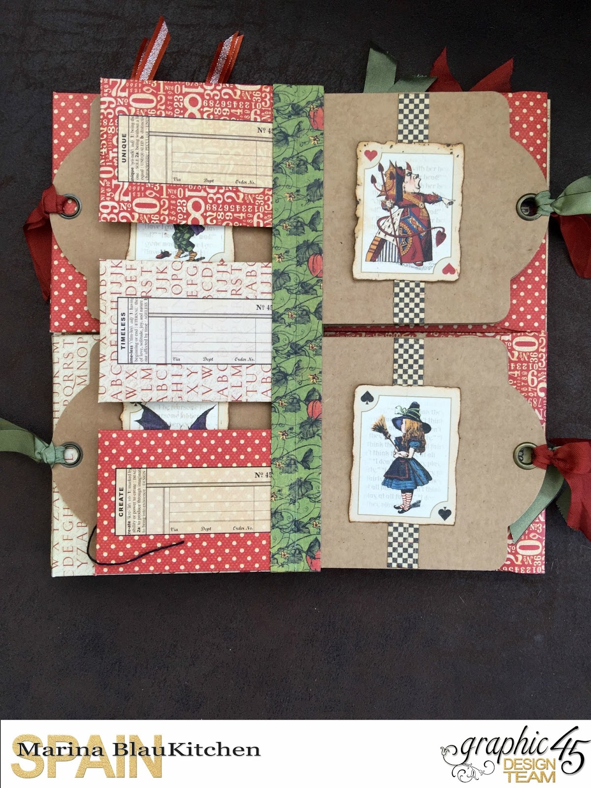 Tag&Pocket Album Halloween in Wonderland Tutorial  by Marina Blaukitchen Product by Graphic 45 photo 13.jpg