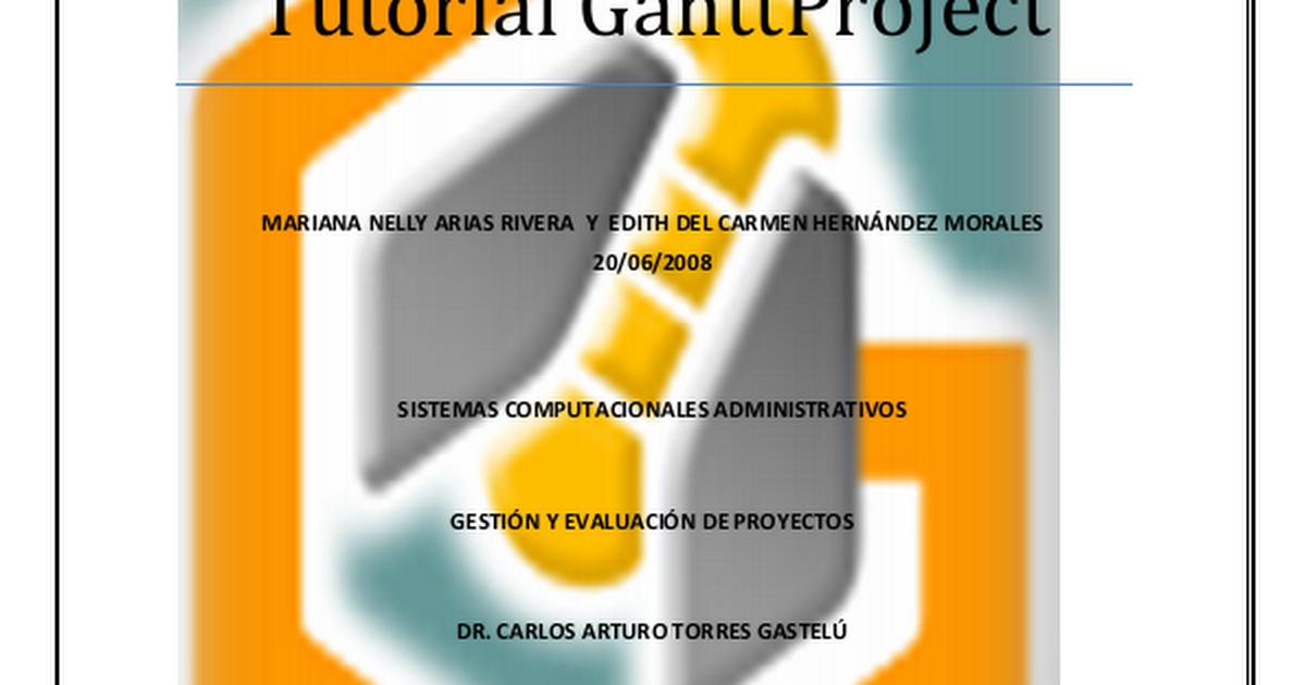 tutorial ganttproject pdf google drive