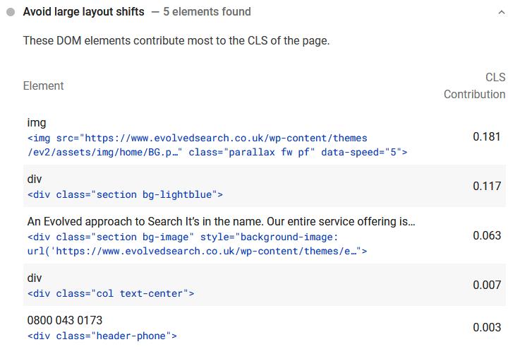 Script example - Core Web Vitals - Evolved Search