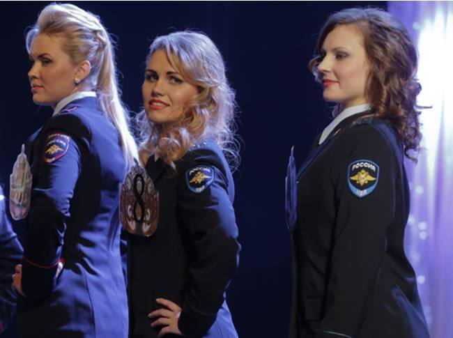 The most beautiful police girls from Russia