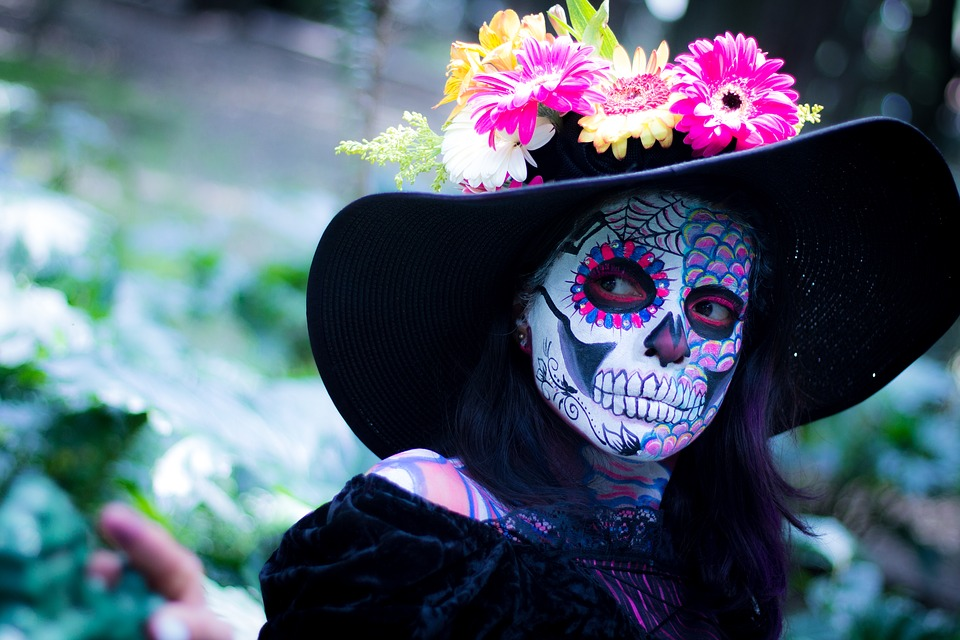 Day Of The Dead, Colorful, Make Up, Mexico, Tradition