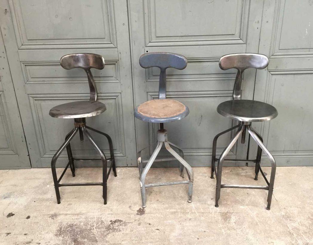 chaises d'atelier Nicolle