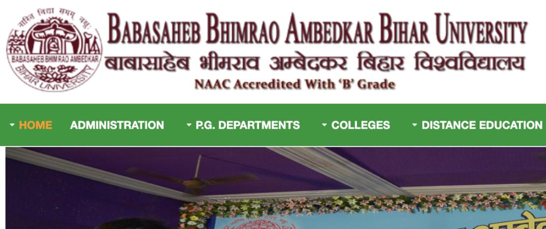 BRABU Bihar website