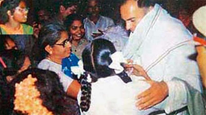 The last picture of Rajiv Gandhi alive