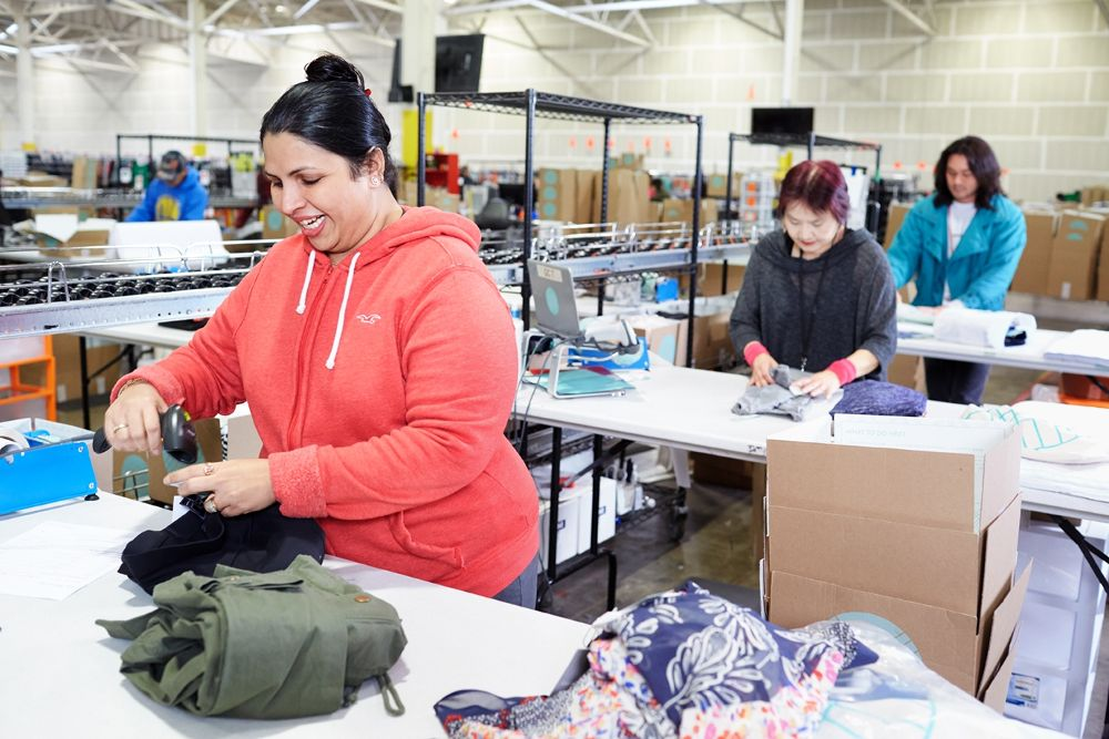 Some of our retail warehouse ... - Stitch Fix Office Photo | Glassdoor