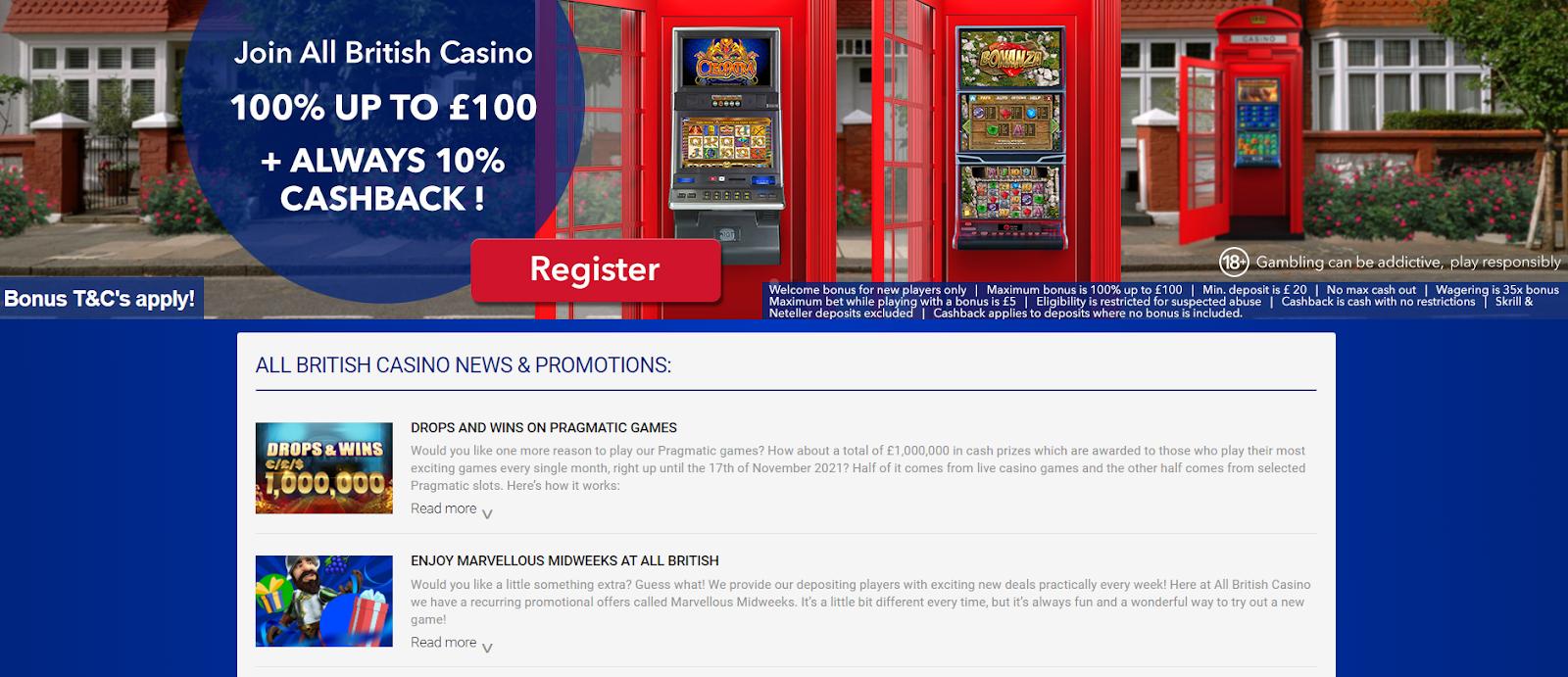 british casino welcome bonus
