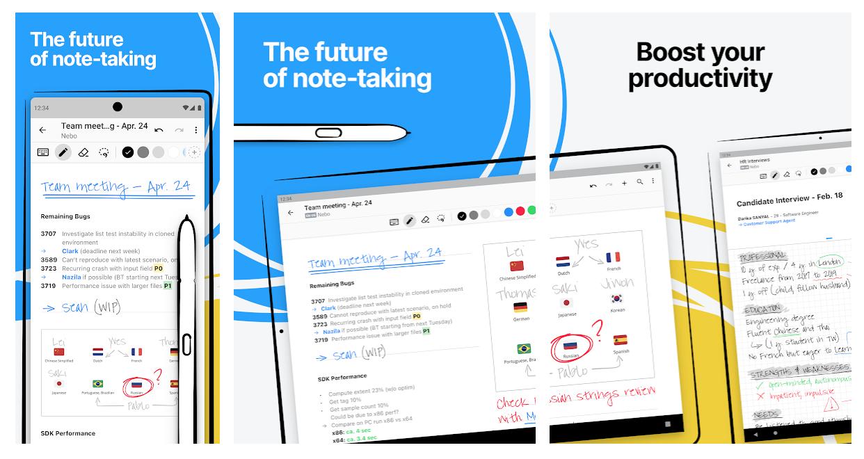 best notes app Nebo marketing visuals