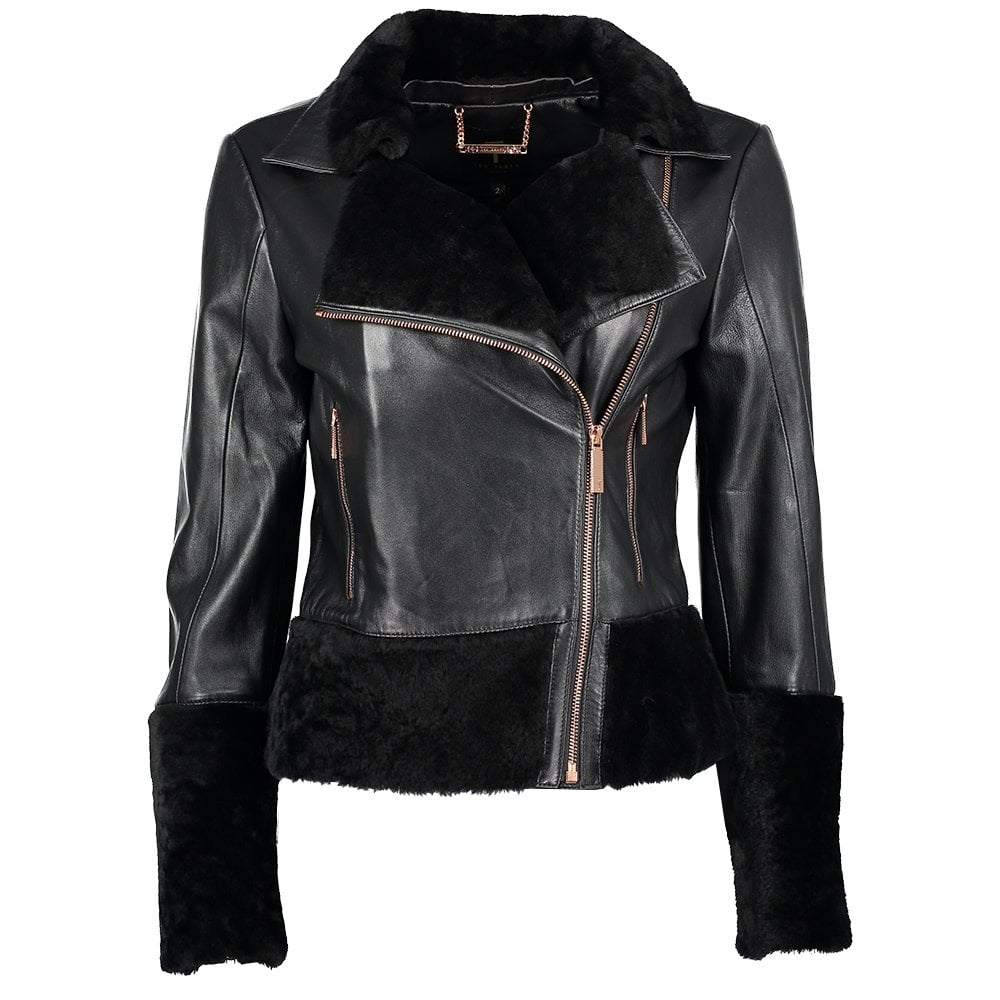 Rosania Zip Off Shearling Biker Jacket