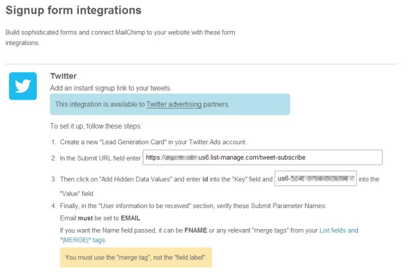 twitter lead generation mailchimp