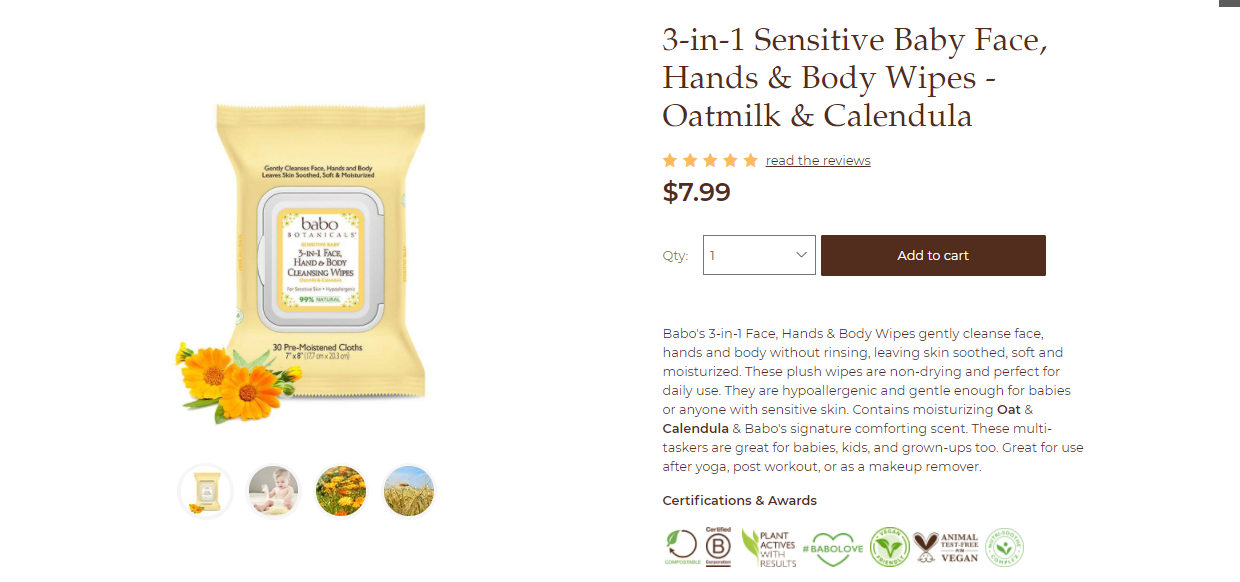 natural products for babies