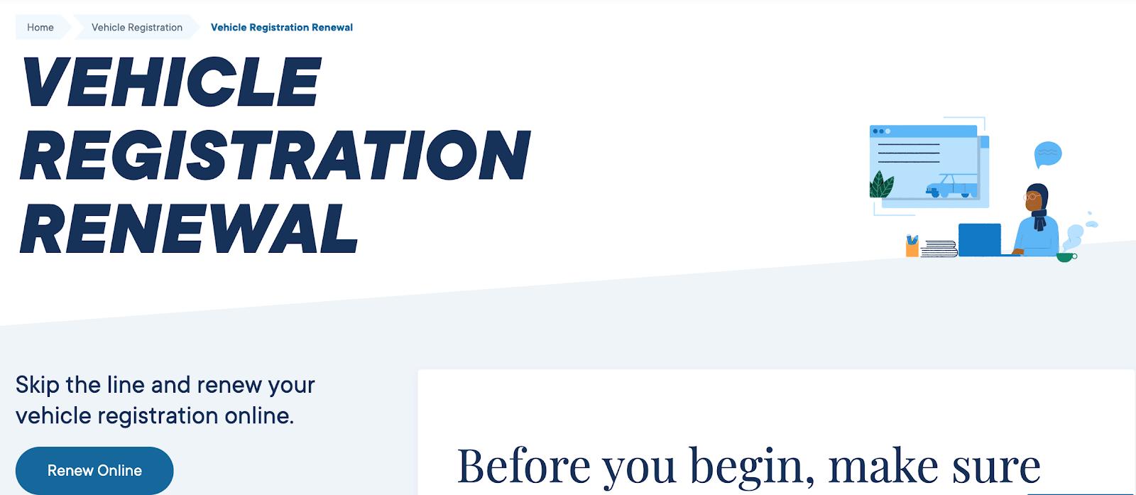 DMV Vehicle Registration Portal