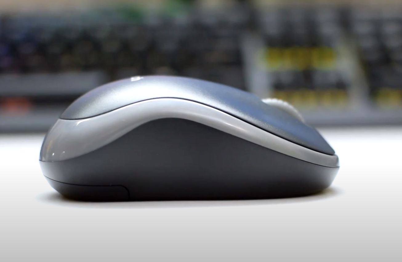Side view of the Logitech M185