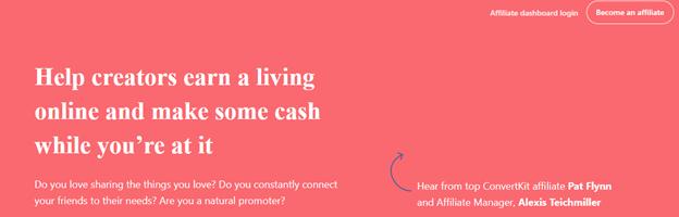 ConvertKit affiliate marketing program